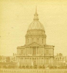 France Paris Dome des Invalides Old Debitte & Hervé Stereoview Photo 1870