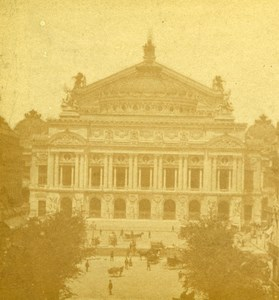 France Paris New Opera Old Debitte & Hervé Stereoview Photo 1870
