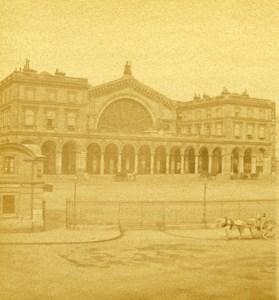 France Paris Gare de L'Est Train Station Old Debitte Hervé Stereoview Photo 1870