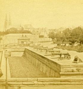 France Paris Esplanade des Invalides Old Debitte & Hervé Stereoview Photo 1870
