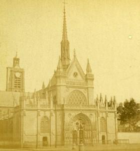 France Paris Eglise Saint-Laurent Old Debitte & Hervé Stereoview Photo 1870