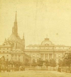 Paris Palais de Justice Sainte Chapelle Old Debitte Hervé Stereoview Photo 1870