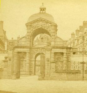 France Chateau de Fontainebleau Old Debitte & Hervé Stereoview Photo 1870