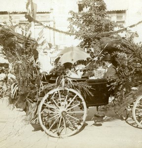 Germany Baden Baden Decorated Float Street Parade Salzer Stereoview Photo 1899