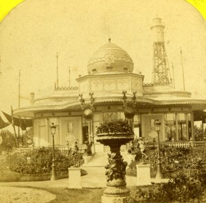 Paris 1867 World Fair Pavillon de l'Empereur Old Stereoview Photo Leon & Levy