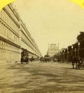 France Pais Rue de Rivoli & Tuileries Snapshot Old Jouvin Stereoview Photo 1860