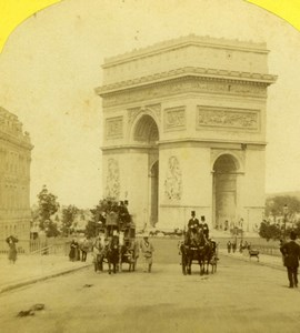 France Paris Arc de Triomphe Snapshot Old Jouvin Stereoview Photo 1860