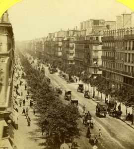 France Paris Boulevard Sebastopol Snapshot Old Jouvin Stereoview Photo 1860