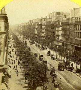 France Paris Boulevard Sebastopol Snapshot Old Jouvin Stereoview Photo 1860