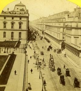 France Pais Rue de Rivoli & Louvre Snapshot Old Jouvin Stereoview Photo 1860