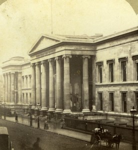 London General Post Office Old LSC London Stereoscopic Company Photo 1860