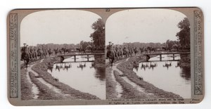 WWI Ypres Allenby's Cavalry Old Realistic Travels Stereoview Photo 1914-1918