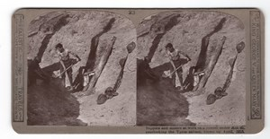 WWI Ypres Tunnel under Hill 60 Old Realistic Travels Stereoview Photo 1914-1918