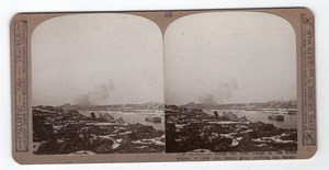 WWI Canal Yser Champ de Bataille Ancienne Photo Stereo Realistic Travels 1914-1918