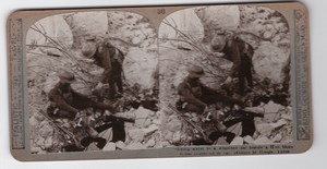 WWI Ypres Hooge Wounded Soldier Old Realistic Travels Stereoview Photo 1914-1918
