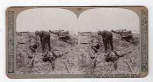 WWI Hooge Zouave Woods 6th Div Old Realistic Travels Stereoview Photo 1914-1918
