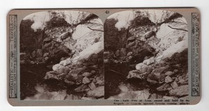 WWI Loos Chalk pits 2nd Guards Brigade Realistic Travels Stereoview Photo 1915