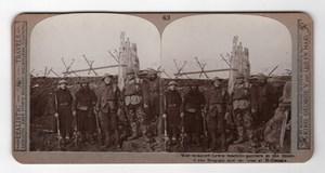 WWI Hollebeke Lewis machine gunners Realistic Travels Stereoview Photo 1914-1918