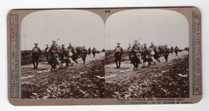 WWI Battle of Pozières Prisoners Old Realistic Travels Stereoview Photo 1916