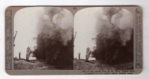 WWI Ypres St. Eloi Mine Explosion Realistic Travels Stereoview Photo 1914-1918