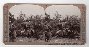WWI Royal Field Artillery Gunners Realistic Travels Stereoview Photo 1914-1918