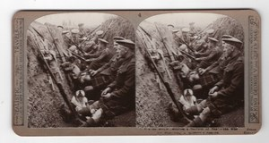 WWI Seaforth Highlanders Trench Old Realistic Travels Stereoview Photo 1915