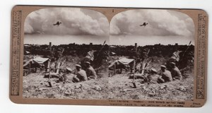 WWI Seaforth Highlanders Trench Mortar Realistic Travels Stereoview Photo 1915