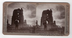 WWI Ypres British Soldier Old Realistic Travels Stereoview Photo 1914-1918