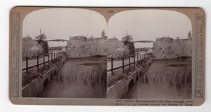 WWI Ypres Ramparts Lille Gate Old Realistic Travels Stereoview Photo 1914-1918
