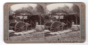 WWI Artillerie Camouflage Ancienne Photo Stereo Realistic Travels 1914-1918