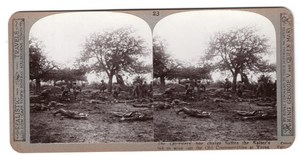 WWI Ypres Leicester Old Contemptibles Realistic Travels Stereoview Photo 1915