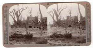 WWI Prévôté de Beuvry-Gorre Festubert Realistic Travels Stereoview Photo 1915
