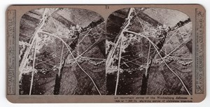 WWI Hindenburg Line Aerial View Old Realistic Travels Stereoview Photo 1917