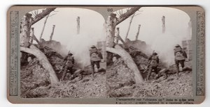 WWI Bataille d'Ypres Ancienne Photo Stereo Realistic Travels 1917