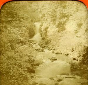 Germany Baden Baden Geroldsau Waterfalls Old Photo Stereoview Tissue 1870