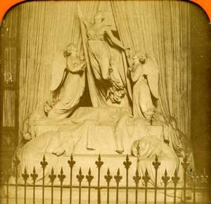 United Kingdom Windsor Princess Charlotte Tomb Old Photo Stereoview Tissue 1870