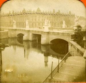Germany Berlin Castle Bridge Old Photo Stereoview Tissue 1870