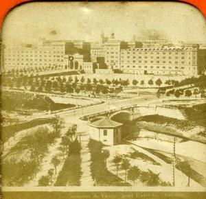 Austria Wien Vienna Radetzky Bridge Old Photo Stereoview Tissue 1870