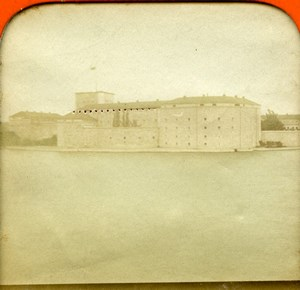 Sweden Vaxholm Fortress Island Old Photo Stereoview Tissue 1870