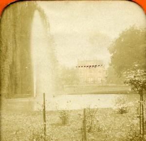 Germany Wiesbaden Schloss Biebrich Palace Old Photo Stereoview Tissue 1870