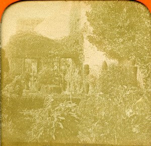 Spain Andalusia Granada Gardens of Alhambra Old Photo Stereoview Tissue 1870