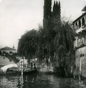 Italy Lake Como Tremezzo Docking Old Stereoview Photo 1900