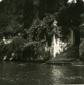 Italy Lake Como Lenno Villa del Balbianello Old Stereoview Photo 1900