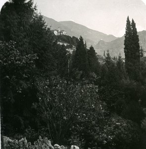 Italy Lake Como Menaggio heights Old Stereoview Photo 1900
