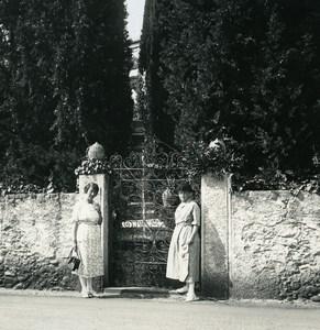 Italy Lake Como Lecco Villa San Martino Cypress Photo Stereoview Possemiers 1920
