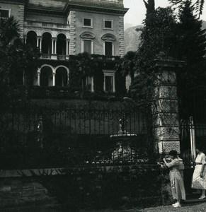 Italy Lake Como Tremezzina Villa Maria Old Photo Stereoview Possemiers 1920