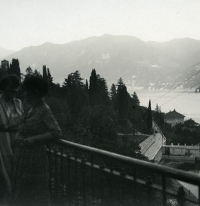 Italy Lake Como Moltrasio panorama Old Photo Stereoview Possemiers 1920