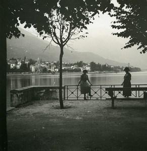 Italy Lake Maggiore Locarno towards Gordola Old Photo Stereoview Possemiers 1920