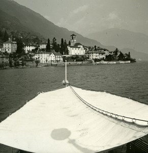 Italy Lake Maggiore Brissago Old Photo Stereoview Possemiers 1920