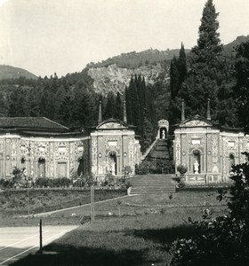 Italy Lake Como Cernobbio Villa d'Este Gardens Old Photo Stereoview Wehrli 1900